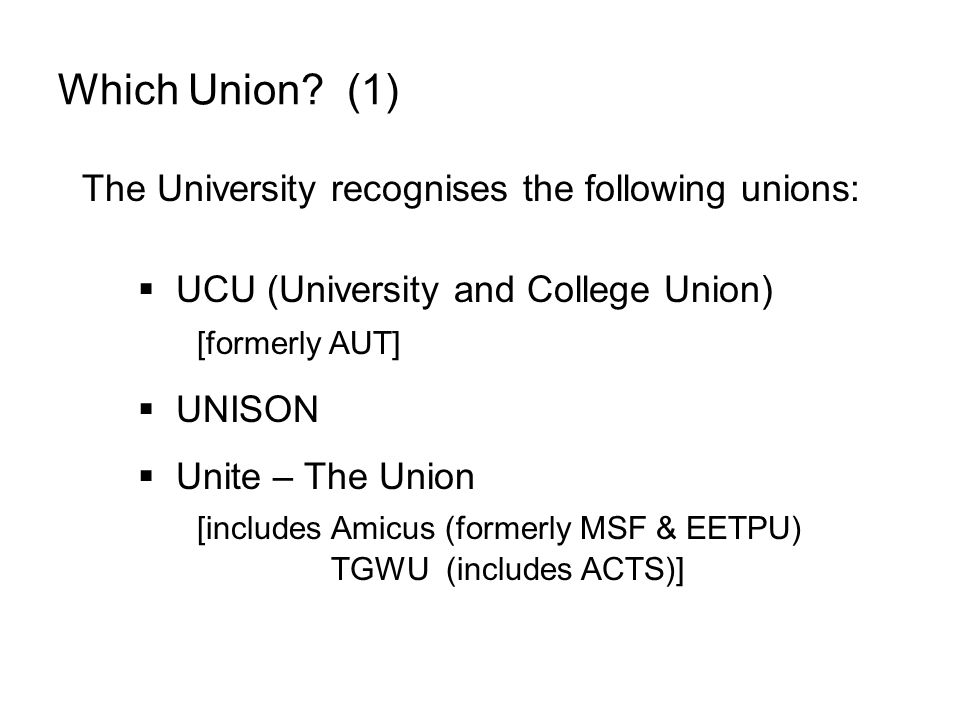 Which Union.