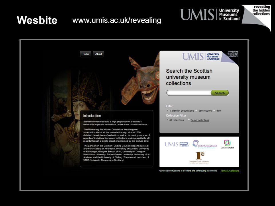 Wesbite www.umis.ac.uk/revealing