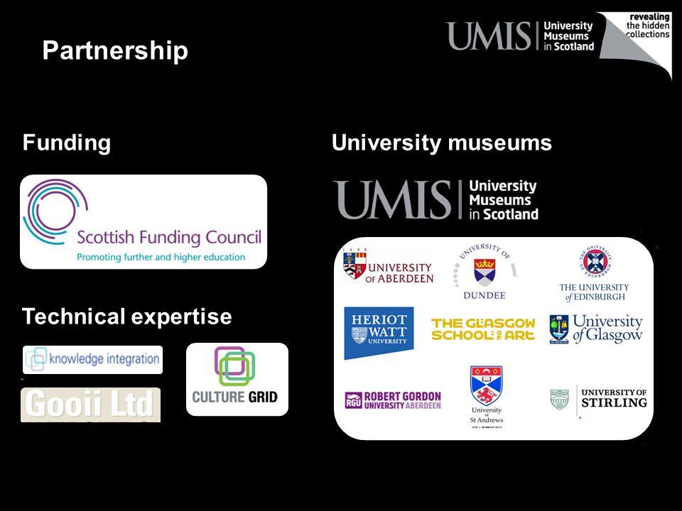 Funding University museums Technical expertise Partnership