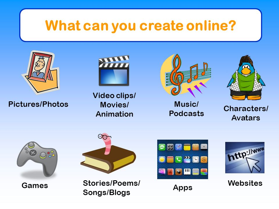 What can you create online.