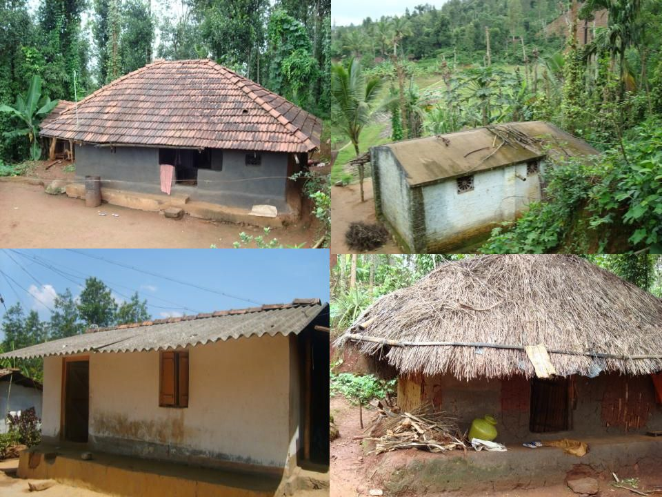 Low-cost tiled house made using Adivasi design Soil cement block making Housing today