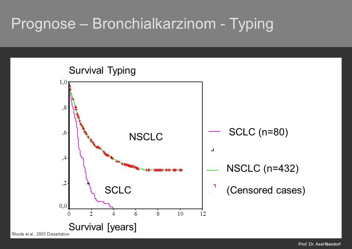 Prognose – Bronchialkarzinom - Typing Prof. Dr. Axel Niendorf Rhode et al., 2003 Dissertation