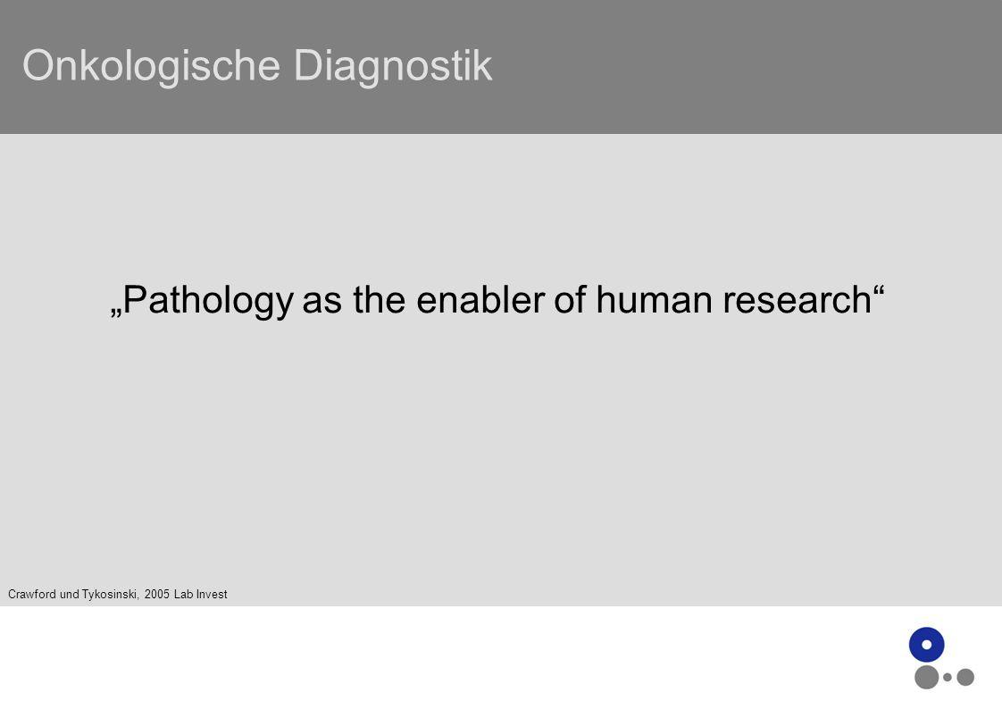 Onkologische Diagnostik - Vision - Früherkennung - Stratifizierung (Risk assessment) - individualisierte Therapieempfehlung - Therapiemonitoring