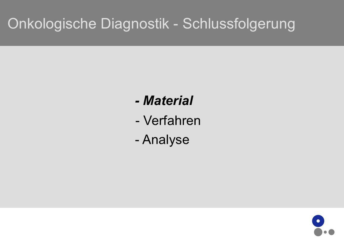 Onkologische Diagnostik - Schlussfolgerung - Material - Verfahren - Analyse