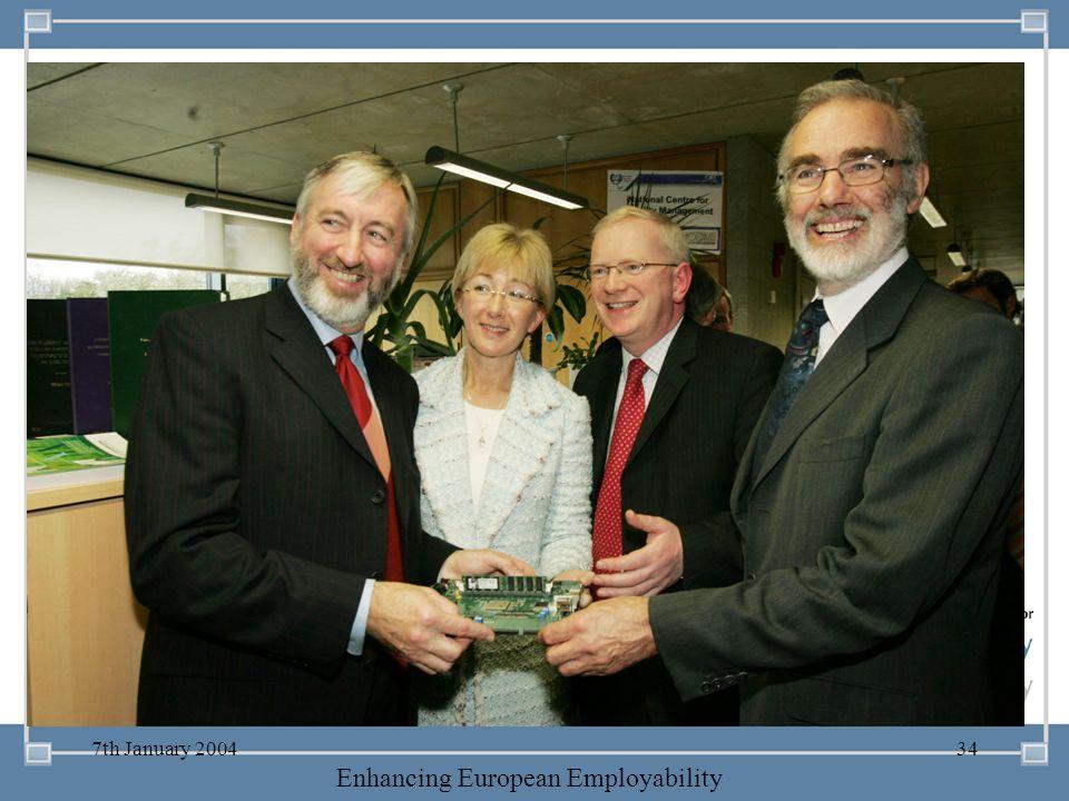 -- 21 st October 2003 -- Thursday 23 rd MarchTThursday 25 th M 2006 Enhancing European Employability 7th January 200434