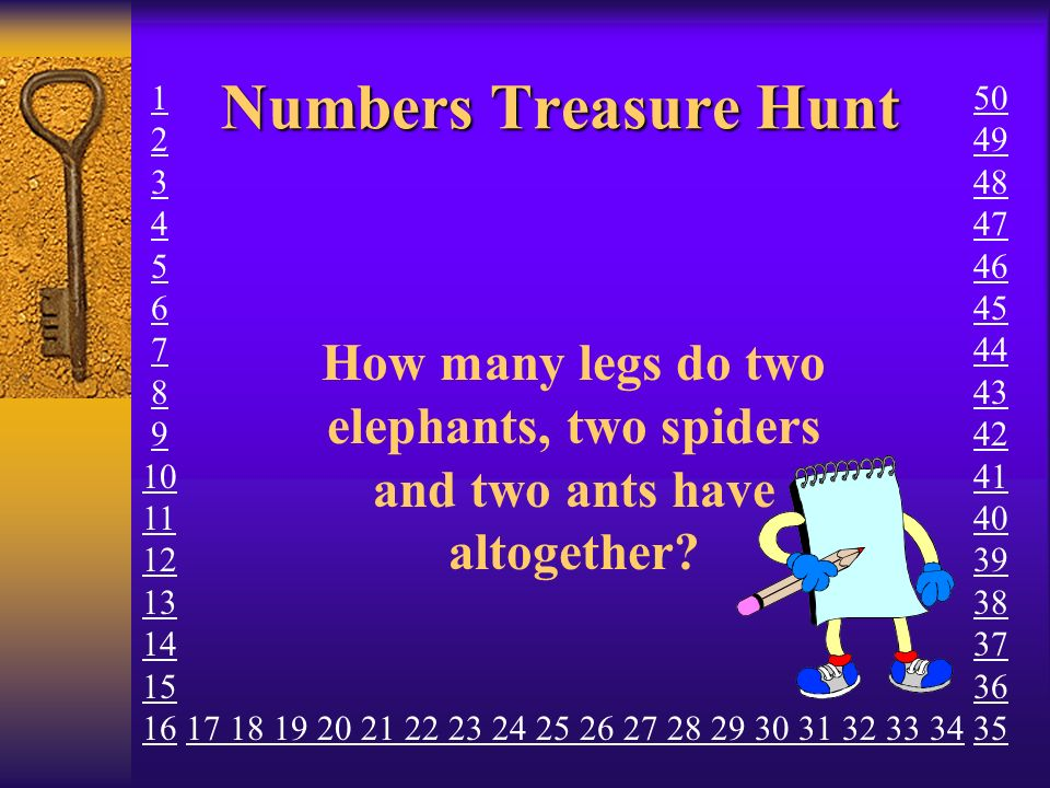 Numbers Treasure Hunt How many sides does an Octagon have.