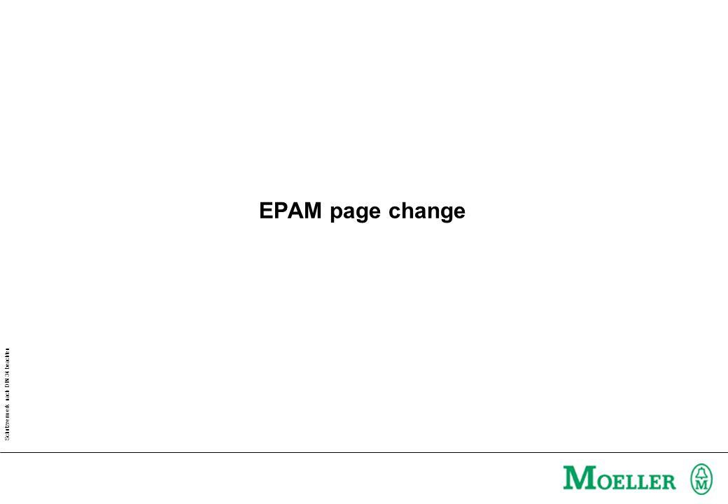 Schutzvermerk nach DIN 34 beachten EPAM page change