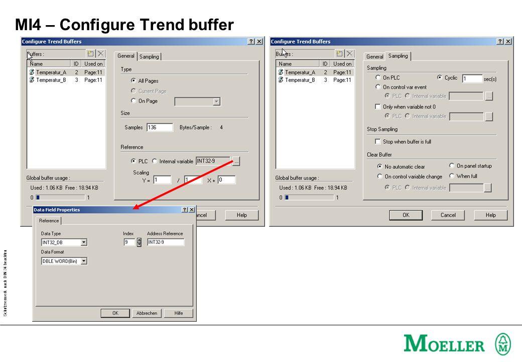 Schutzvermerk nach DIN 34 beachten MI4 – Configure Trend buffer