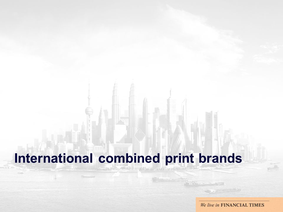 International combined print brands