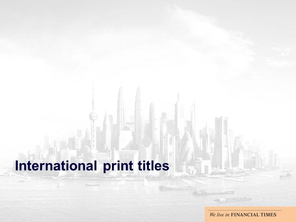 International print titles