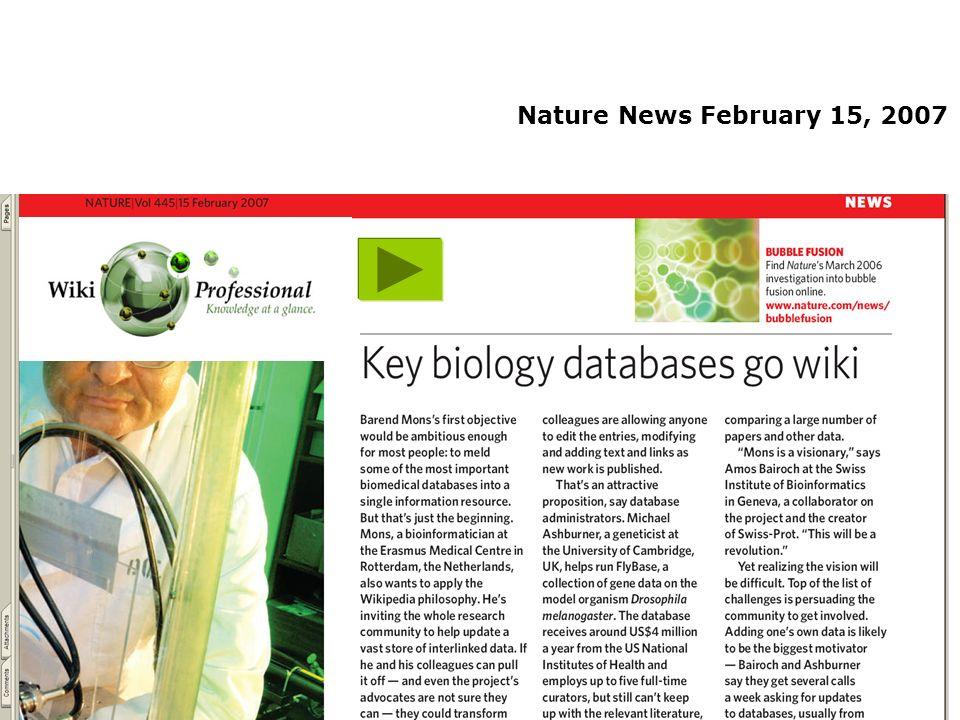 Nature News February 15, 2007