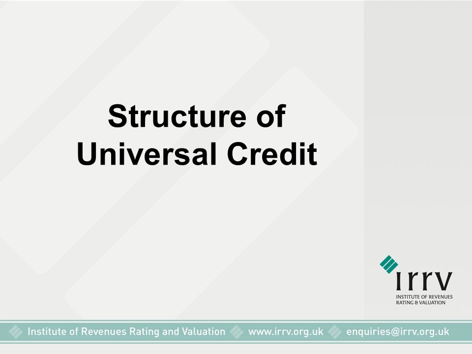 Structure of Universal Credit