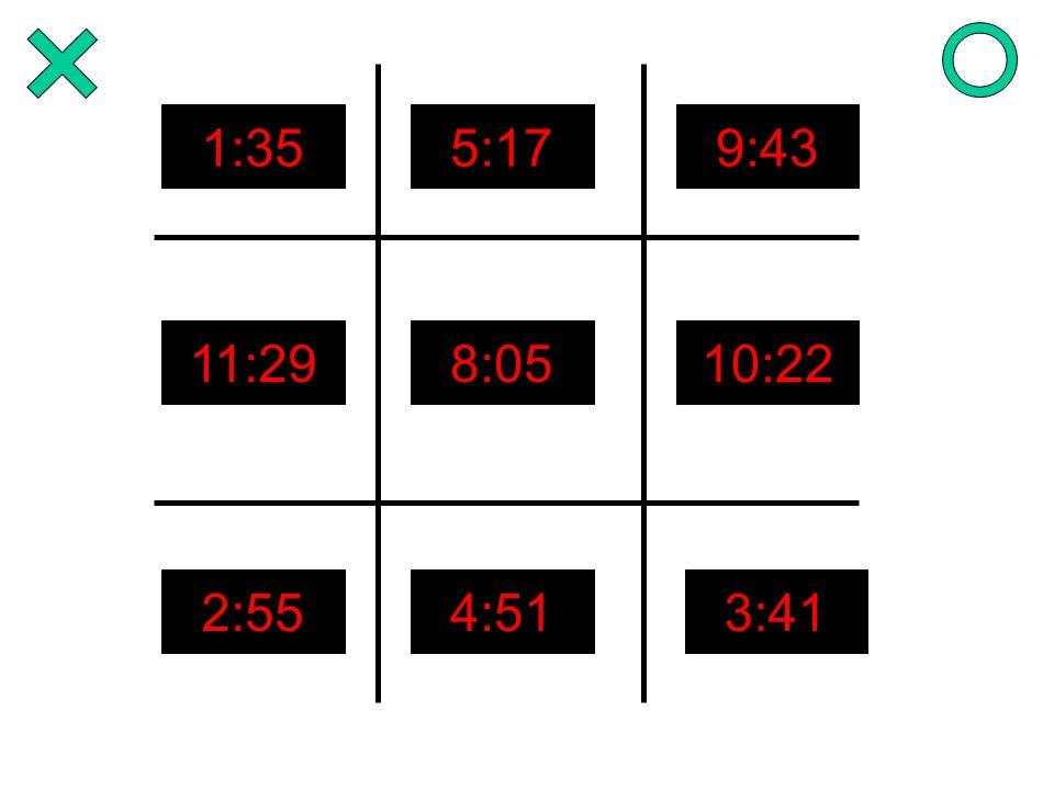1:355:179:43 11:298:0510:22 2:554:513:41