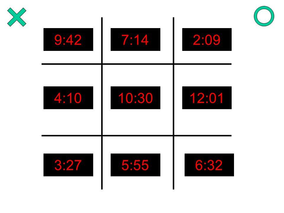 9:427:142:09 4:1010:3012:01 3:275:556:32