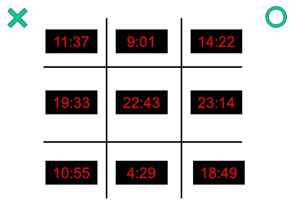 11:379:0114:22 19:3322:4323:14 10:554:2918:49