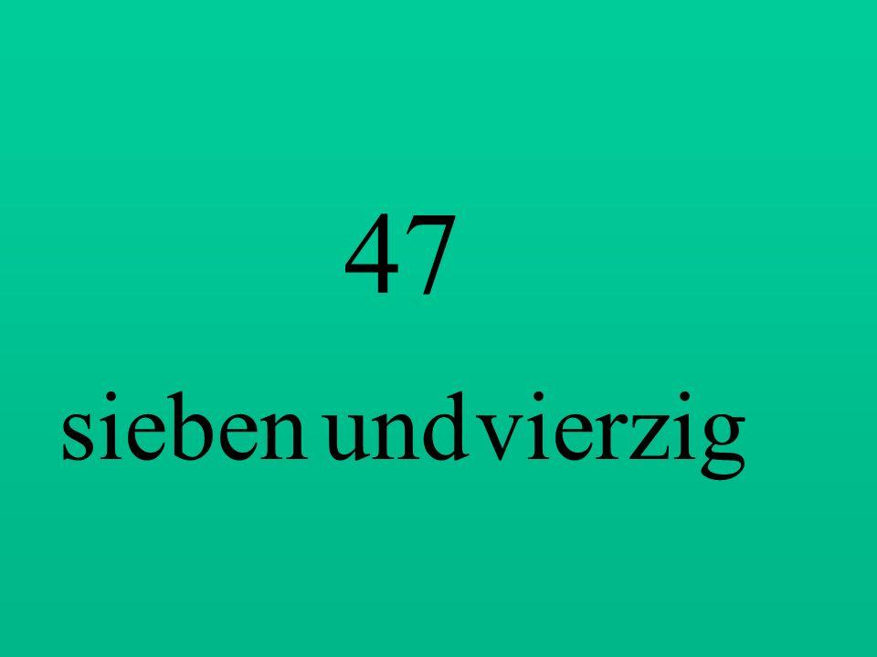 74 vierundsiebzig 59 neunundfünfzig