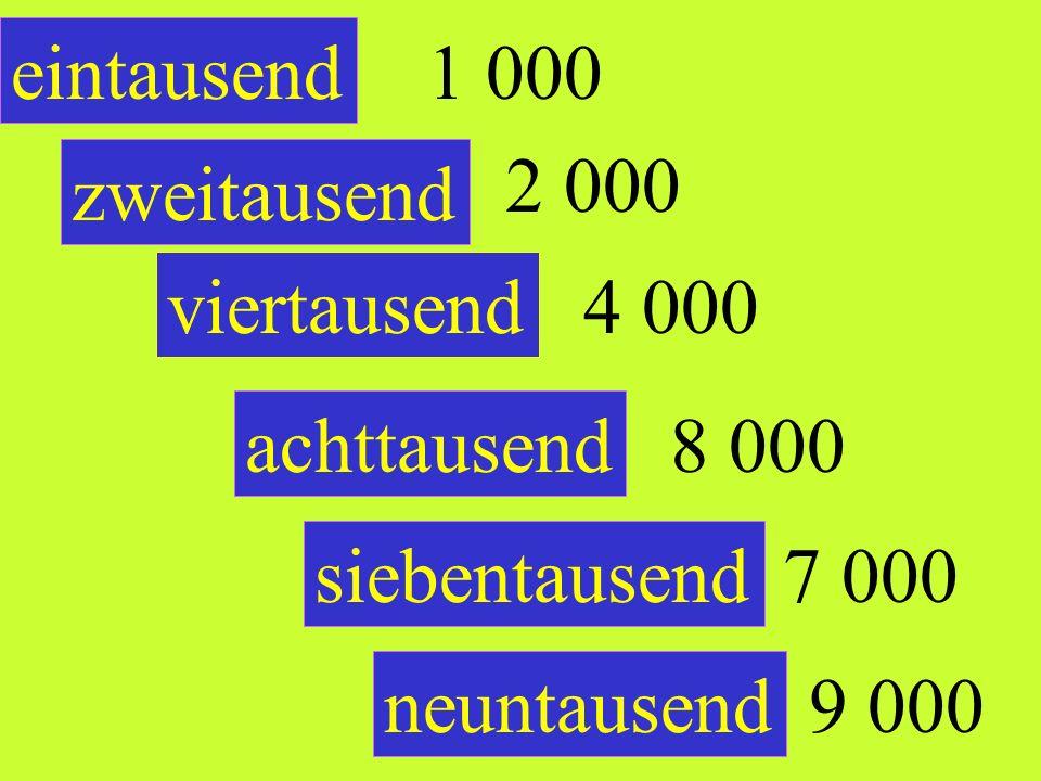 100 einhundert neunhundert siebenhundert sechshundert dreihundert fünfhundert 900 500 700 600 300