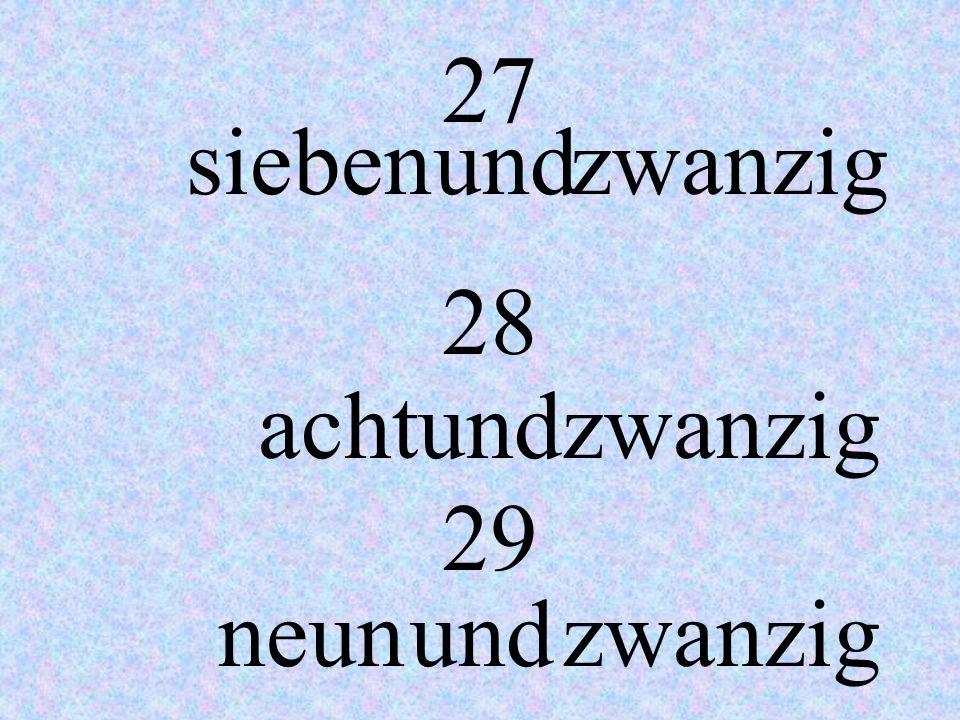 24 25 26 vier undzwanzig fünfundzwanzig sechsundzwanzig