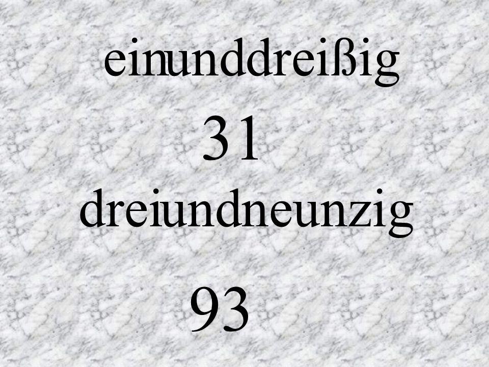 27 28 29 siebenundzwanzig achtundzwanzig neunundzwanzig