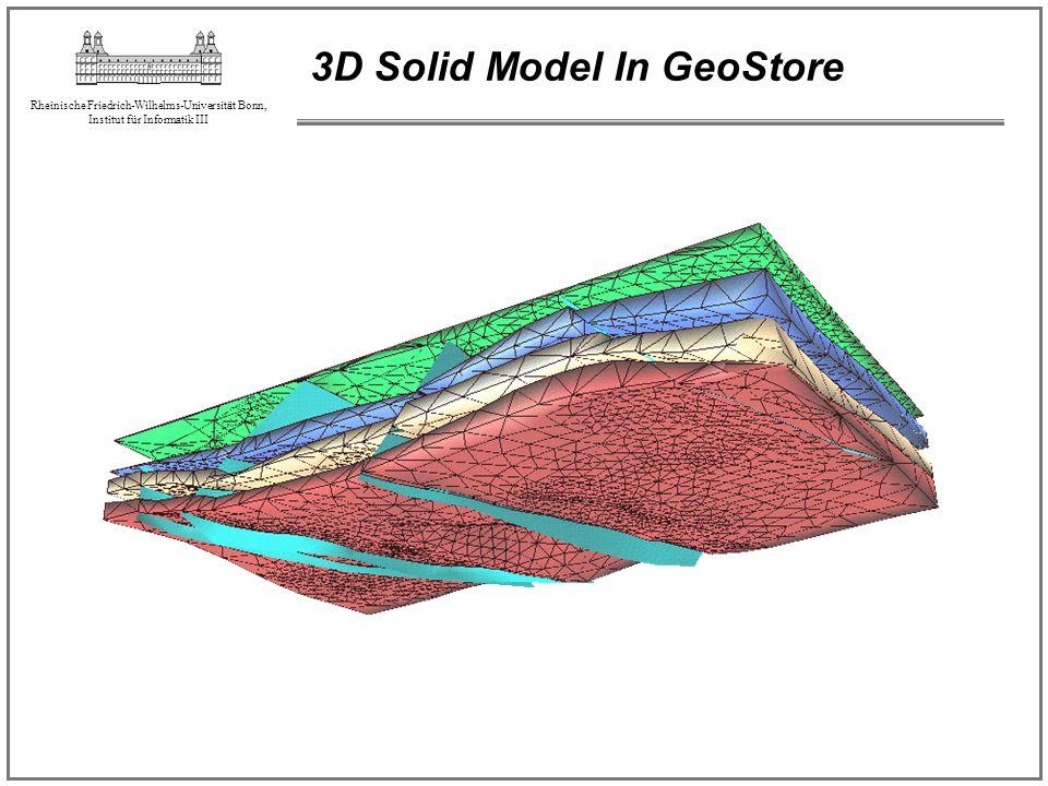 Rheinische Friedrich-Wilhelms-Universität Bonn, Institut für Informatik III 3D Solid Model In GeoStore