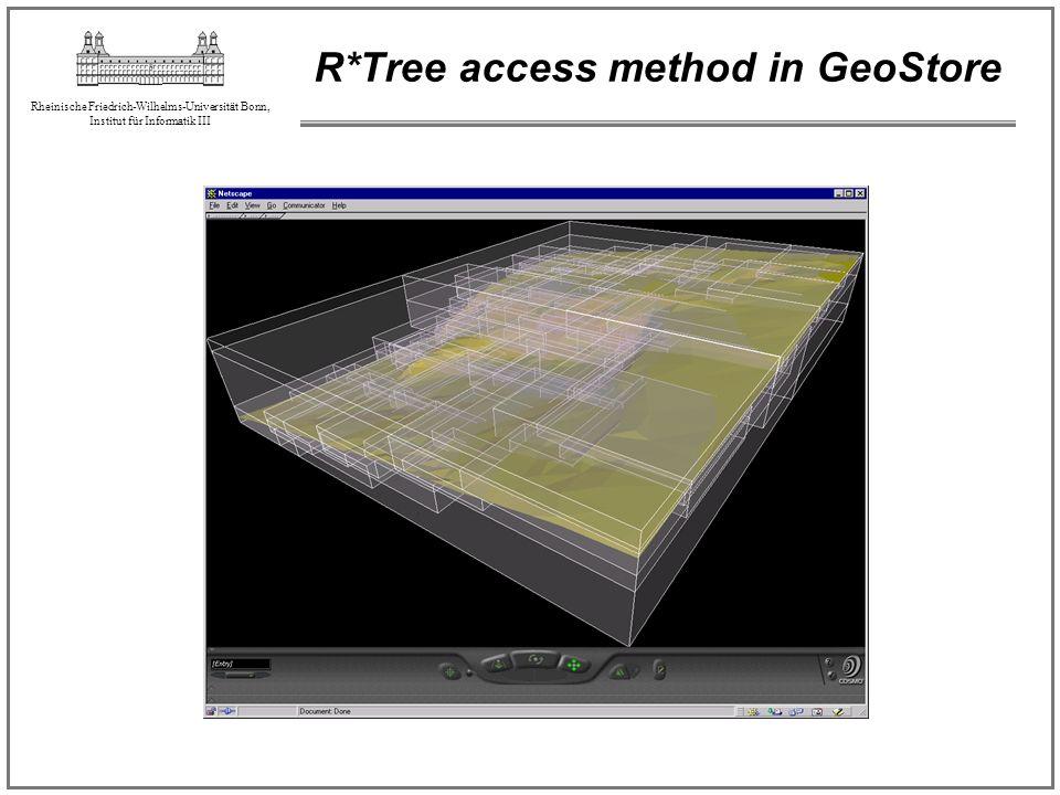 Rheinische Friedrich-Wilhelms-Universität Bonn, Institut für Informatik III R*Tree access method in GeoStore