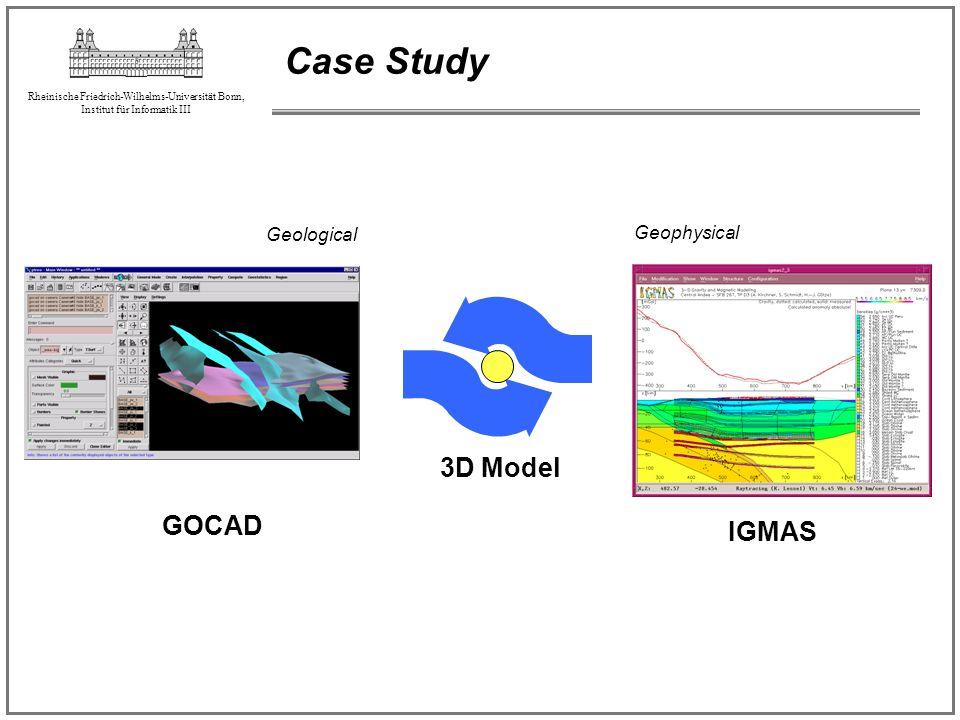Rheinische Friedrich-Wilhelms-Universität Bonn, Institut für Informatik III Case Study Geological Geophysical IGMAS GOCAD 3D Model