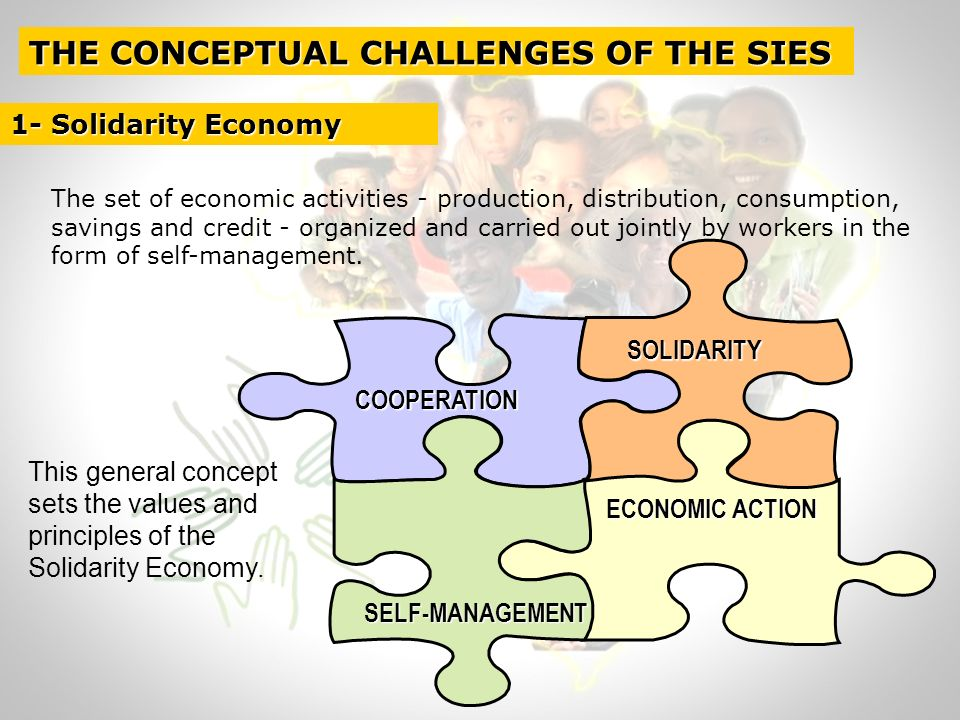 Collectives organizationsEconomic activitiesSolidarity practices Cooperatives Associations Informal Groups Solidarity Funds Community Bancs Exchange clubs Cooperation Networks Etc.