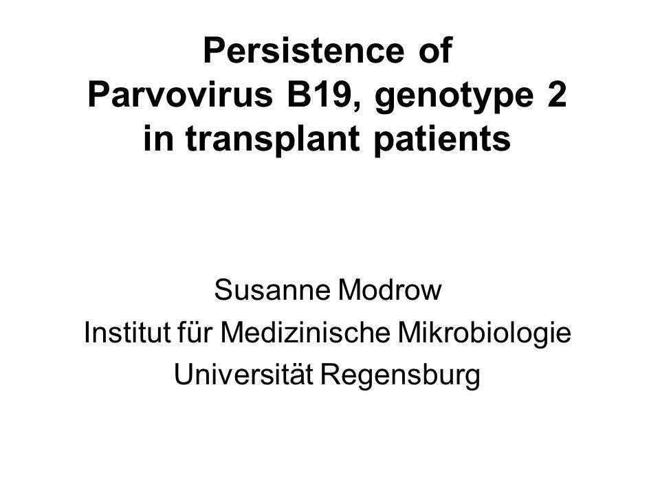Frequent unspecific illness Erythema infectiosum, fifth disease, slapped cheek disease (Ringelröteln) transient anemia transient mono-, oligo-, polyarthritis/arthropathy Rare Mono-, oligo-, polyarthritis Henoch-Schönlein purpura/Papular-purpuric gloves-and-socks-syndrome (PPGSS) Idiopathic thrombocytopenic purpura Thrombocytopenia/granulocytopenia/pancytopenia Virus-associated hemophagocytic syndrome (VAHS) Acute liver failure/hepatitis Vasculitis/giant cell arteritis/polyarteritis nodosa/myositis Myocarditis Glomerulonephitis Chronic fatigue syndrome/meningitis/encephalitis Gullian-Barré-syndrome Cerebellar ataxia Disease Manifestation in immunocompetent individuals