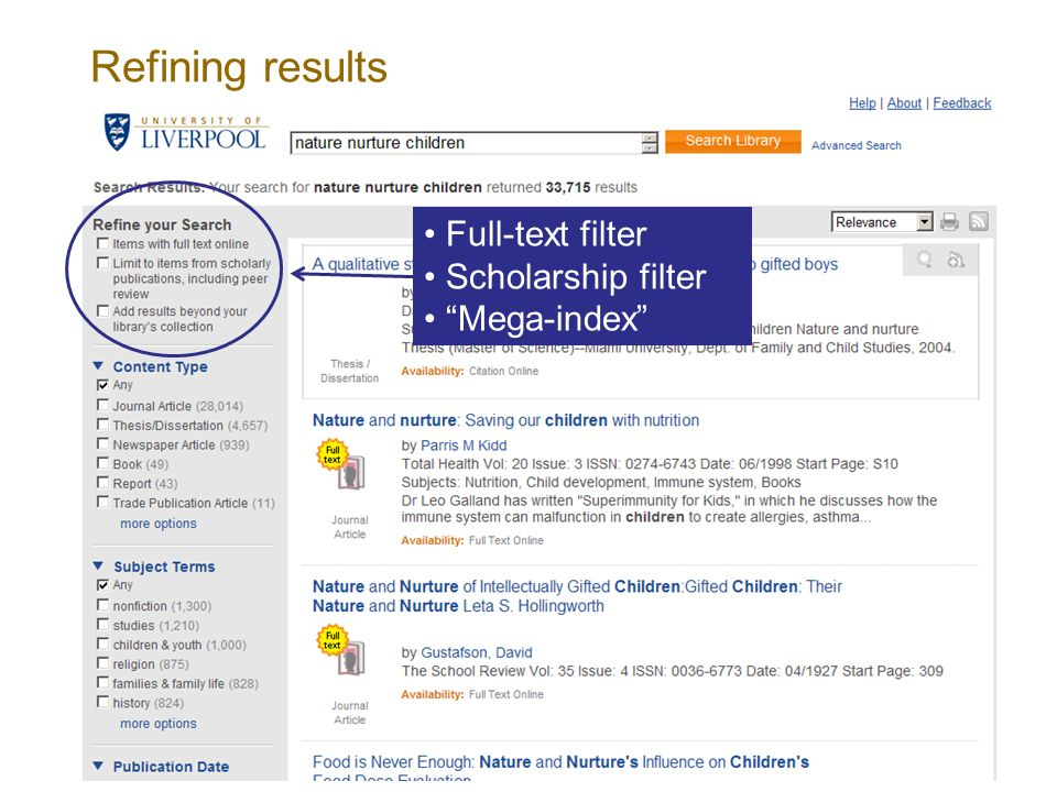 Refining results Full-text filter Scholarship filter Mega-index