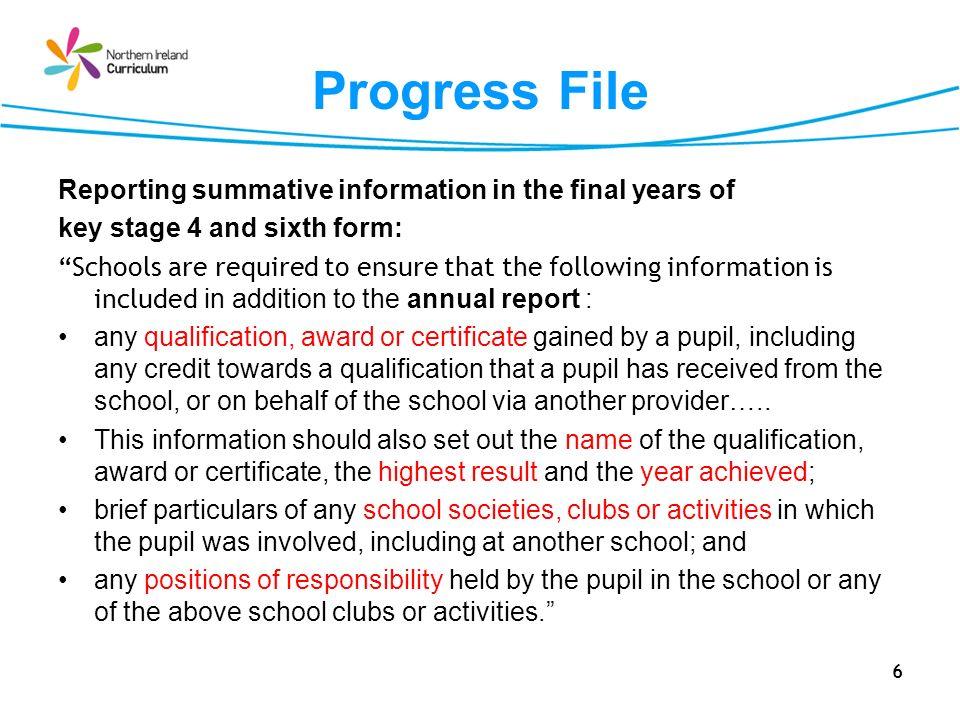 ETI:Using the Progress File 67