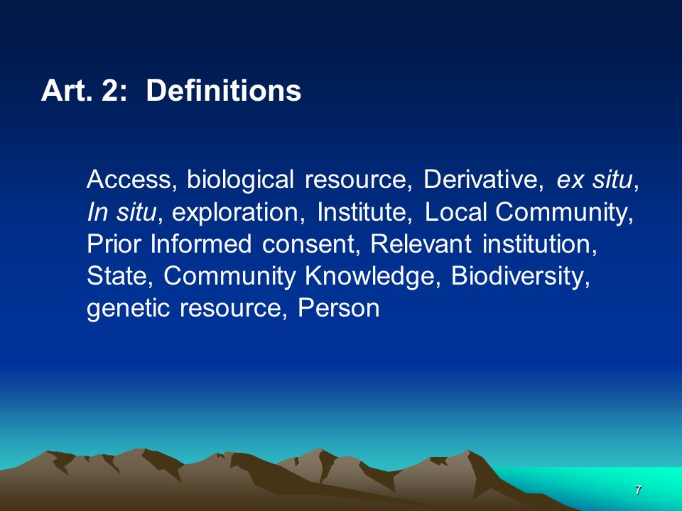 28 Part Five Exploration of Genetic Resources Art.