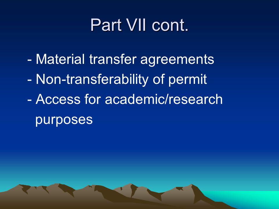 Parts cont.VIII.