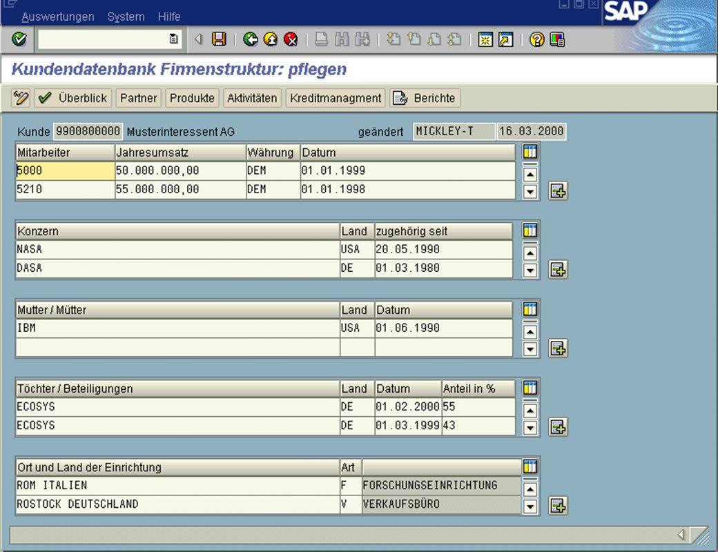 Page 11Date 2001/02/15Thomas MickleyCostumer Database System jw Firmenstruktur