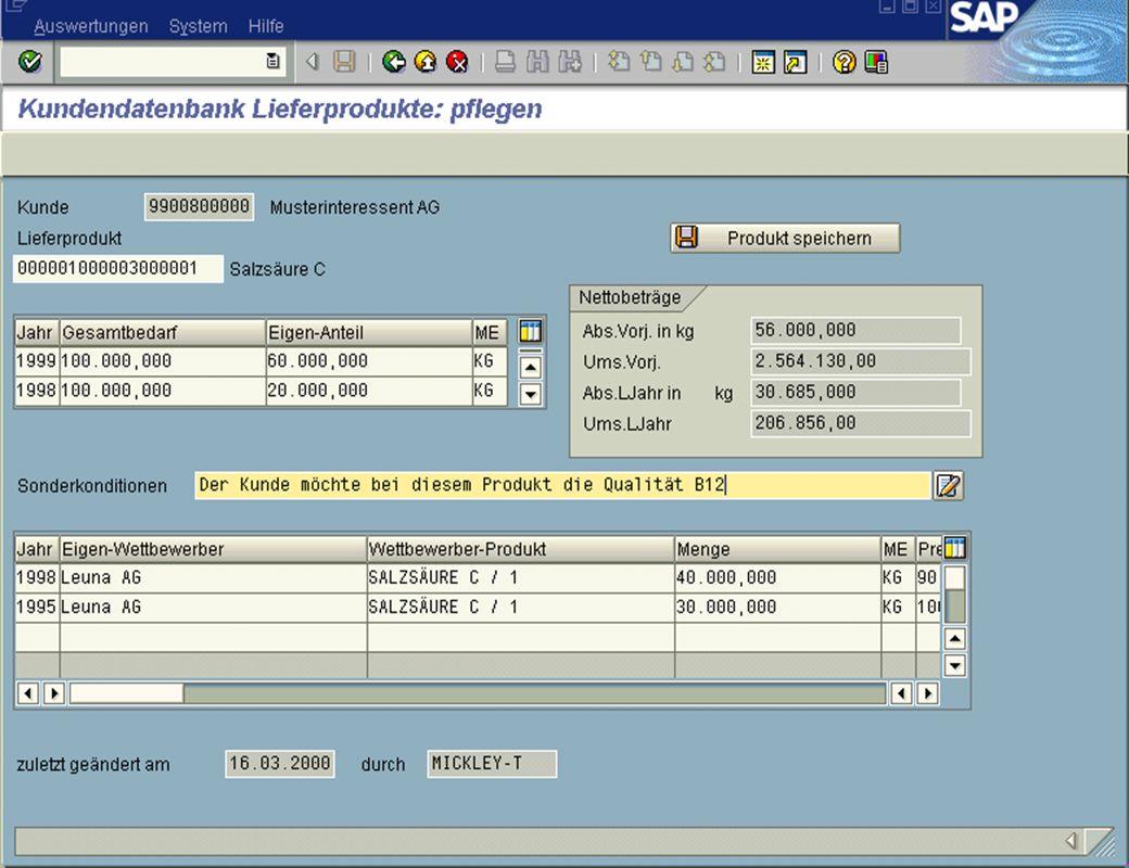 Page 13Date 2001/02/15Thomas MickleyCostumer Database System jw Produkte Detailansicht