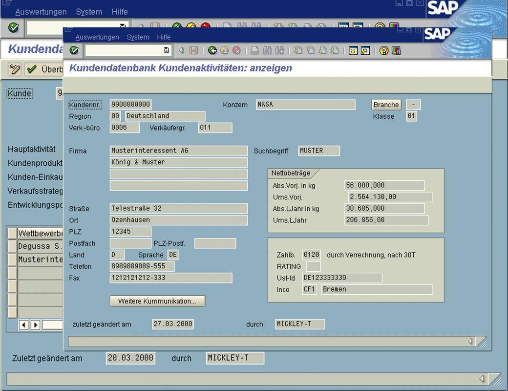 Page 15Date 2001/02/15Thomas MickleyCostumer Database System jw Aktivitäten Detailansicht