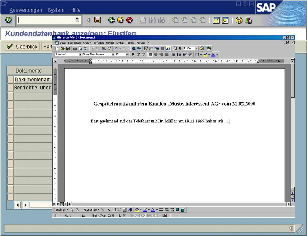Page 18Date 2001/02/15Thomas MickleyCostumer Database System jw Dokumentenverwaltung Detailansicht