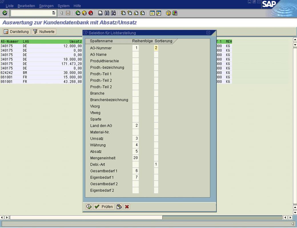 Page 23Date 2001/02/15Thomas MickleyCostumer Database System jw Auswertungen Liste Darstellungsänderung