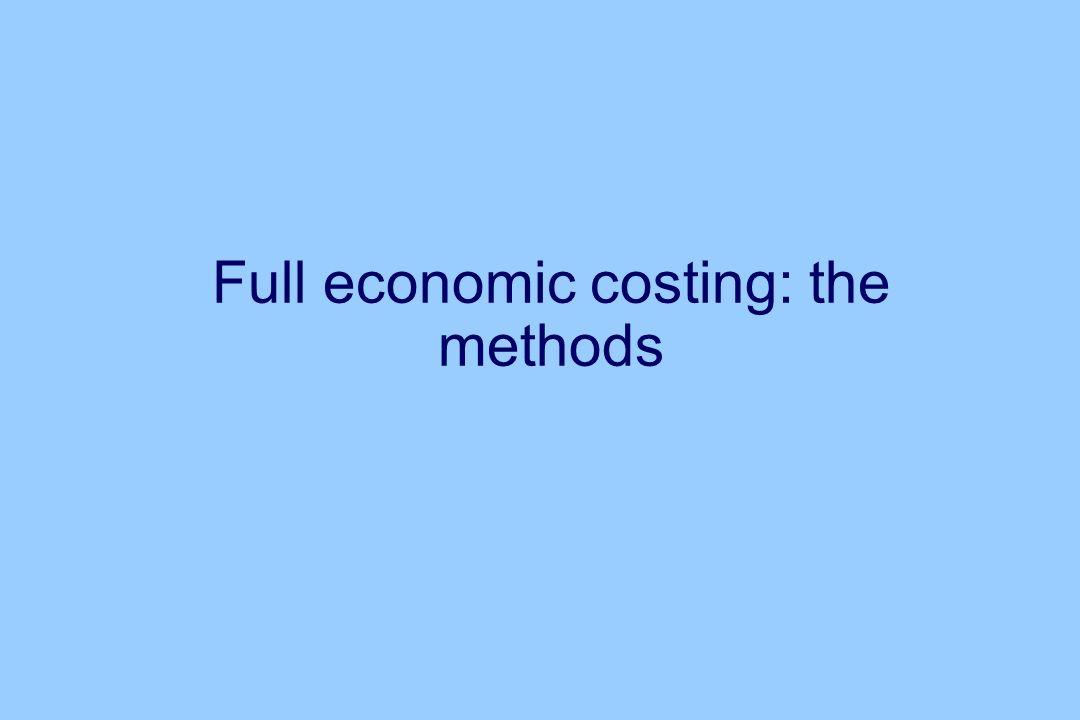 Full economic costing: the methods