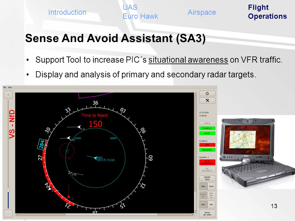Sense And Avoid Assistant (SA3) Support Tool to increase PIC´s situational awareness on VFR traffic. Display and analysis of primary and secondary rad