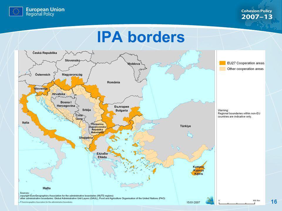 16 IPA borders