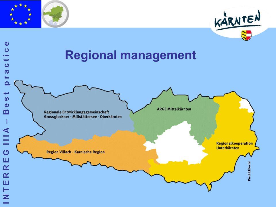 I N T E R R E G I I I A – B e s t p r a c t i c e Regional management Piechl/Blechl