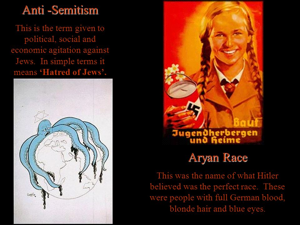 Anti -Semitism This is the term given to political, social and economic agitation against Jews.