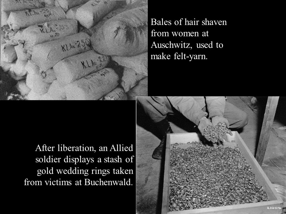 Nazis sift through a huge pile of clothes left by victims of the massacre. Two year old Mani Halefs clothes are somewhere amongst these.