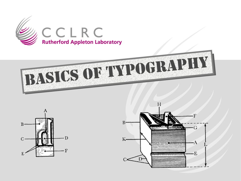 & Basics of Typography