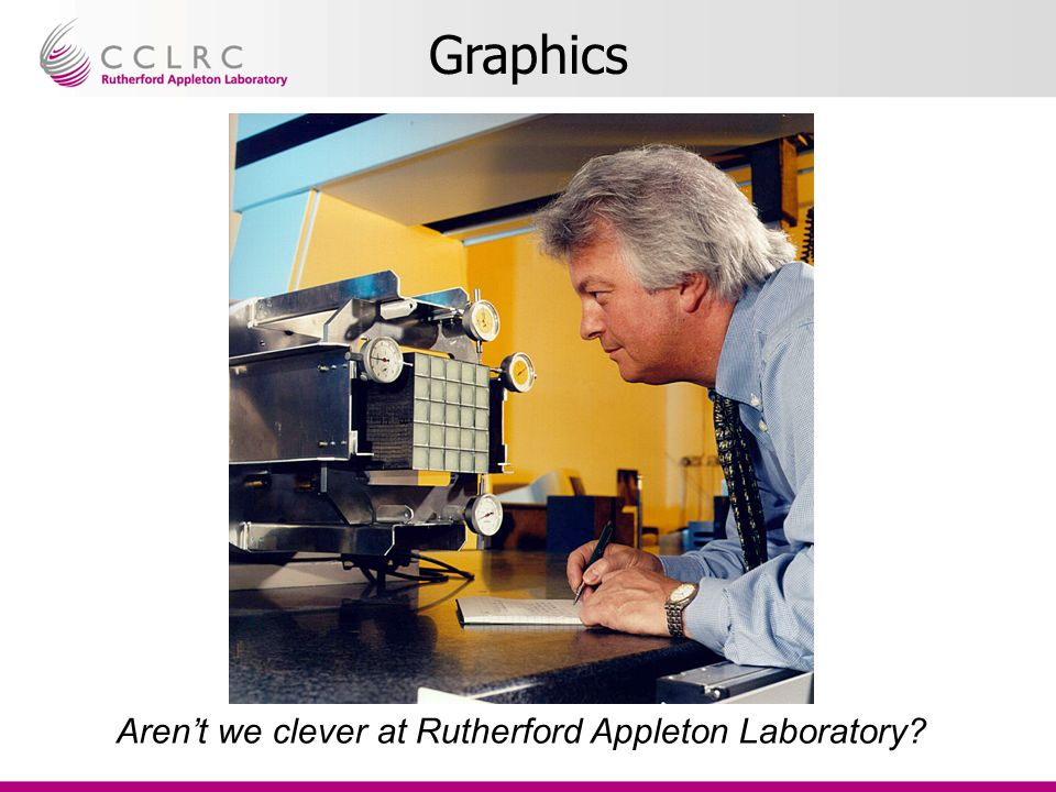 Graphics Arent we clever at Rutherford Appleton Laboratory