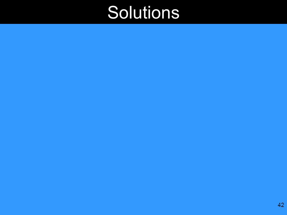 42 Solutions