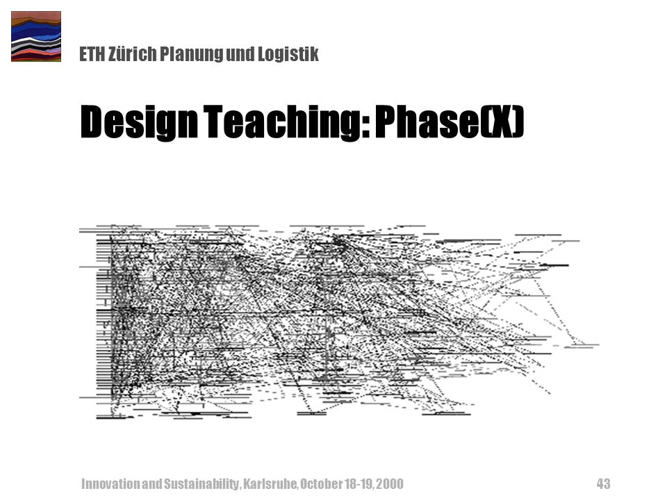 ETH Zürich Planung und Logistik Innovation and Sustainability, Karlsruhe, October 18-19, Design Teaching: Phase(X)