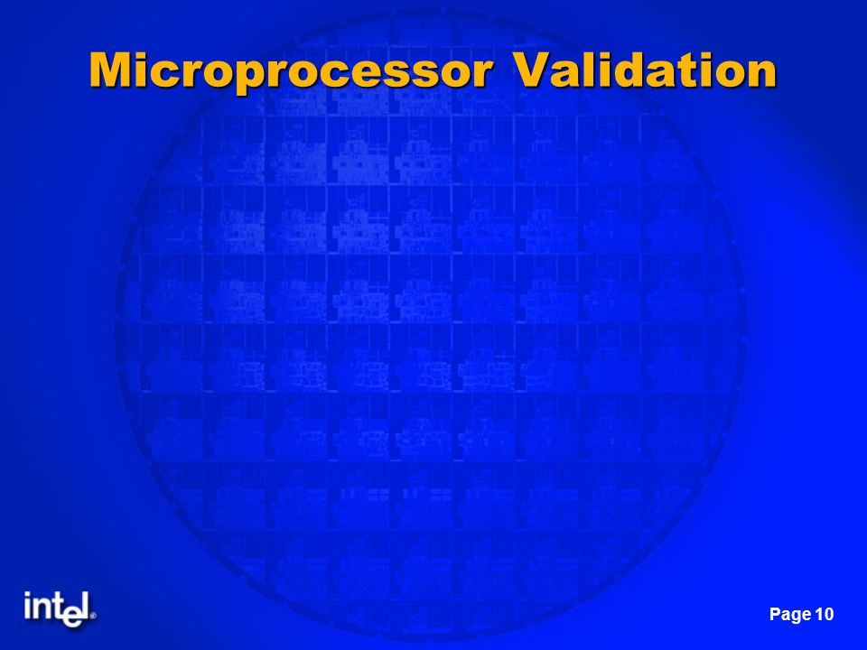 Page 10 Microprocessor Validation