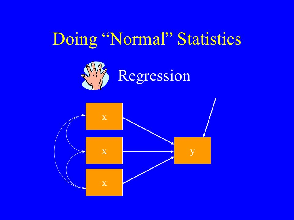 Doing Normal Statistics x y Regression x x