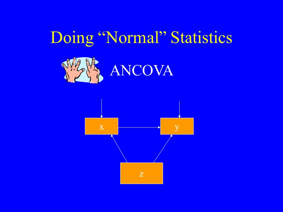 Doing Normal Statistics ANCOVA xy z